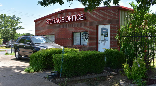 Front of Budget Self Storage in Cabot, AR