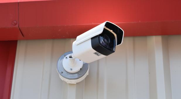 Security camera at Budget Self Storage