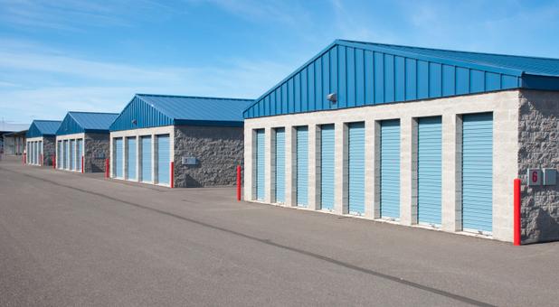 Rows of self storage units in Sherwood, AR