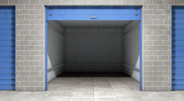 Open self storage unit in Sherwood, AR