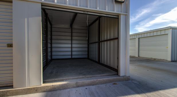 An open self storage unit in Webb City, MO