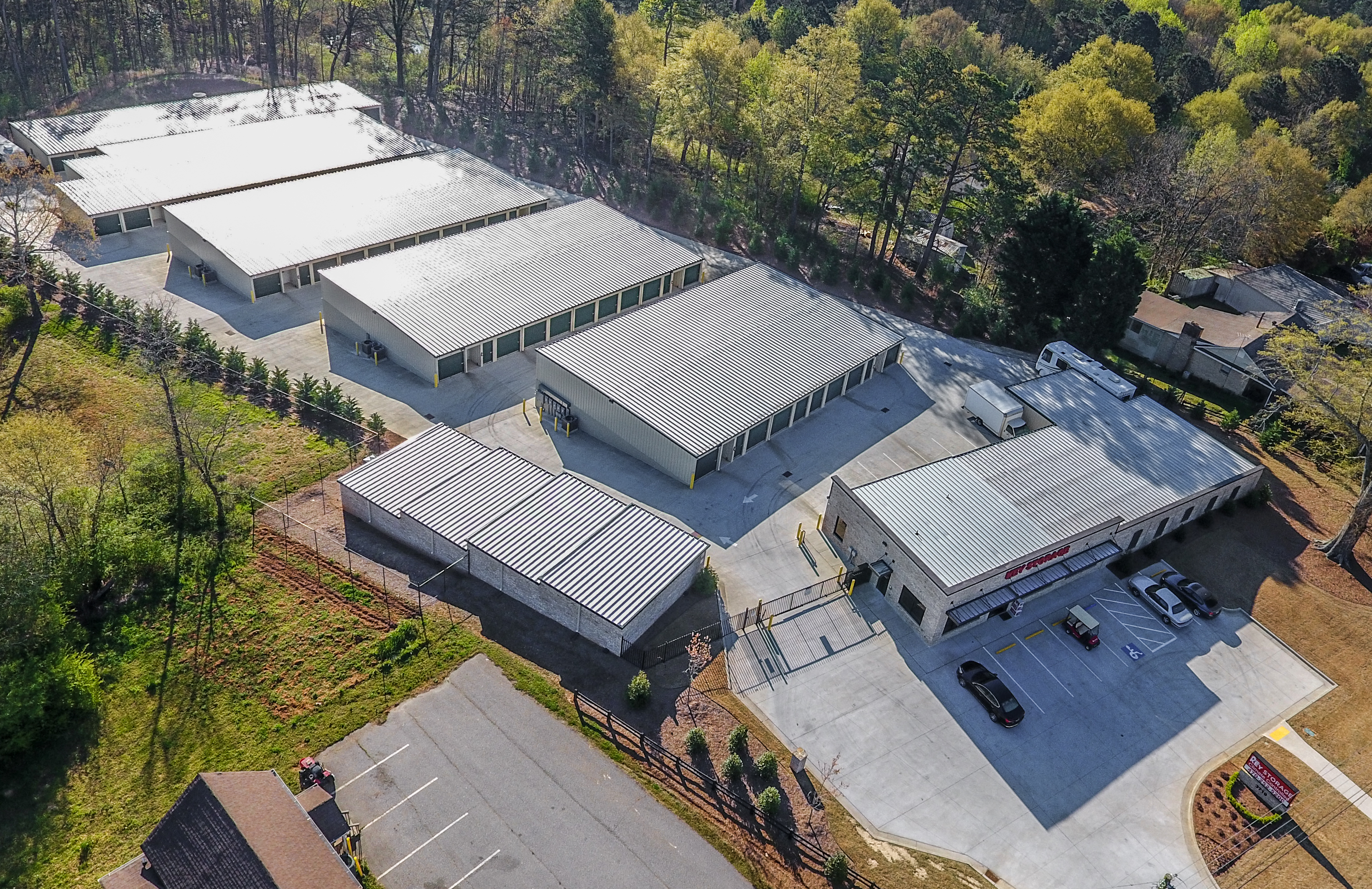 aeiral view of our beautiful facility