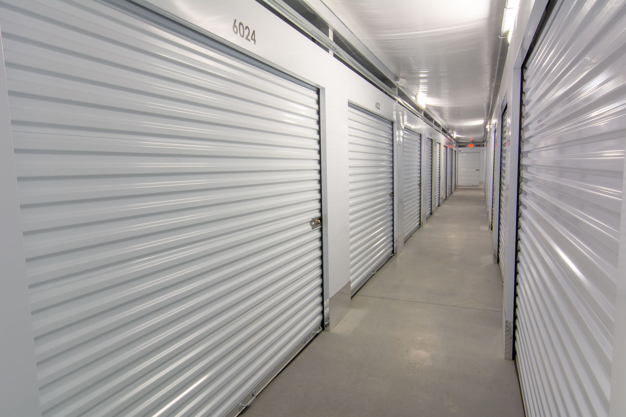view of our clean climate controlled storage units