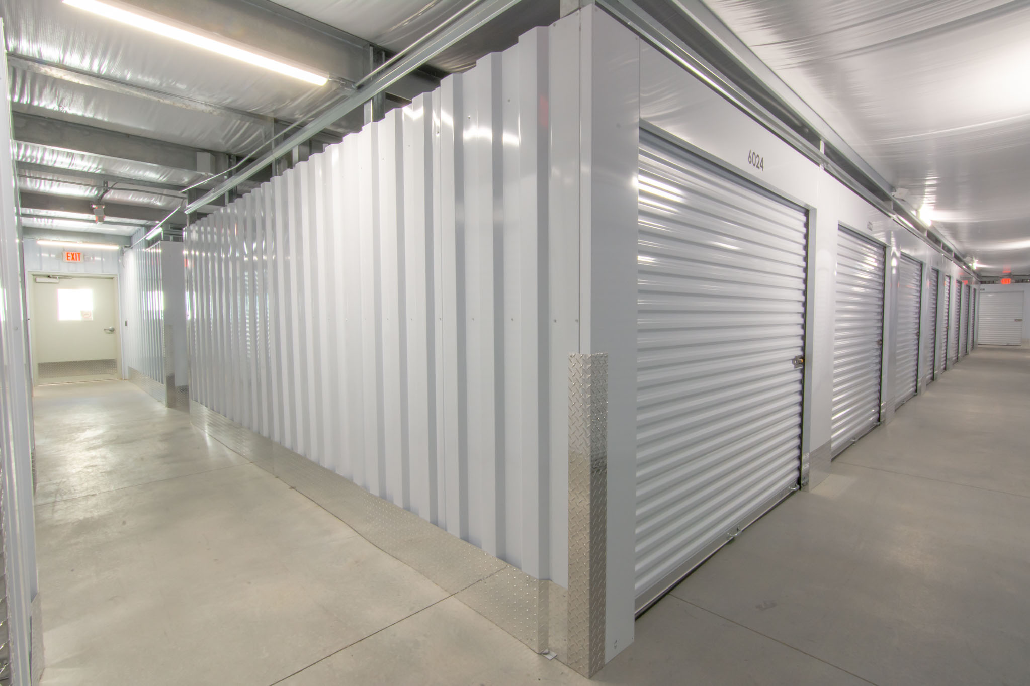 view of Key Storage climate controlled unit hallways
