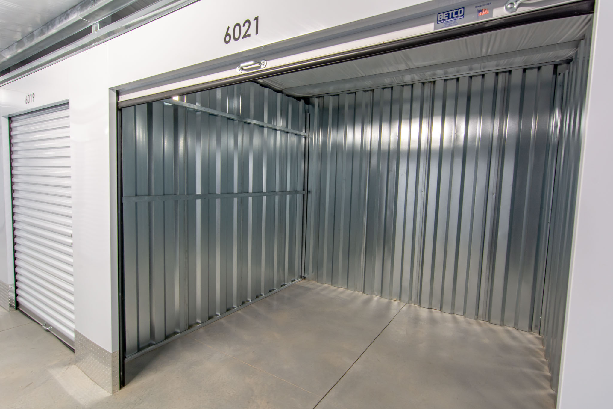 view of key storage clean climate controlled storage unit