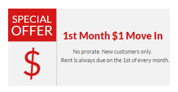 1st month discount