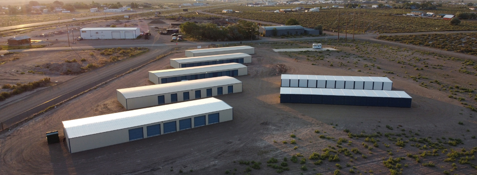 Overhead view of Alamosa Storage units