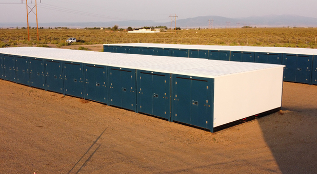 Row of storage units in Alamosa, CO
