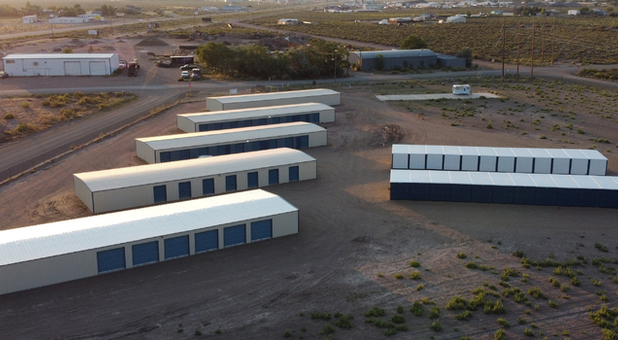 Overhead view of storage units in Alamosa, CO