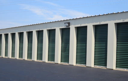 Line of Self Storage Units in Madison, WI