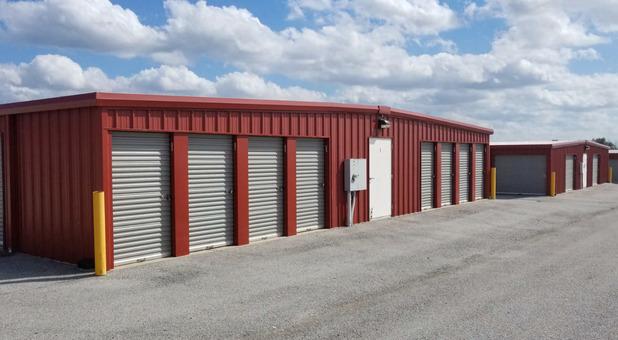 Line of Storage Units in Springdale, AR