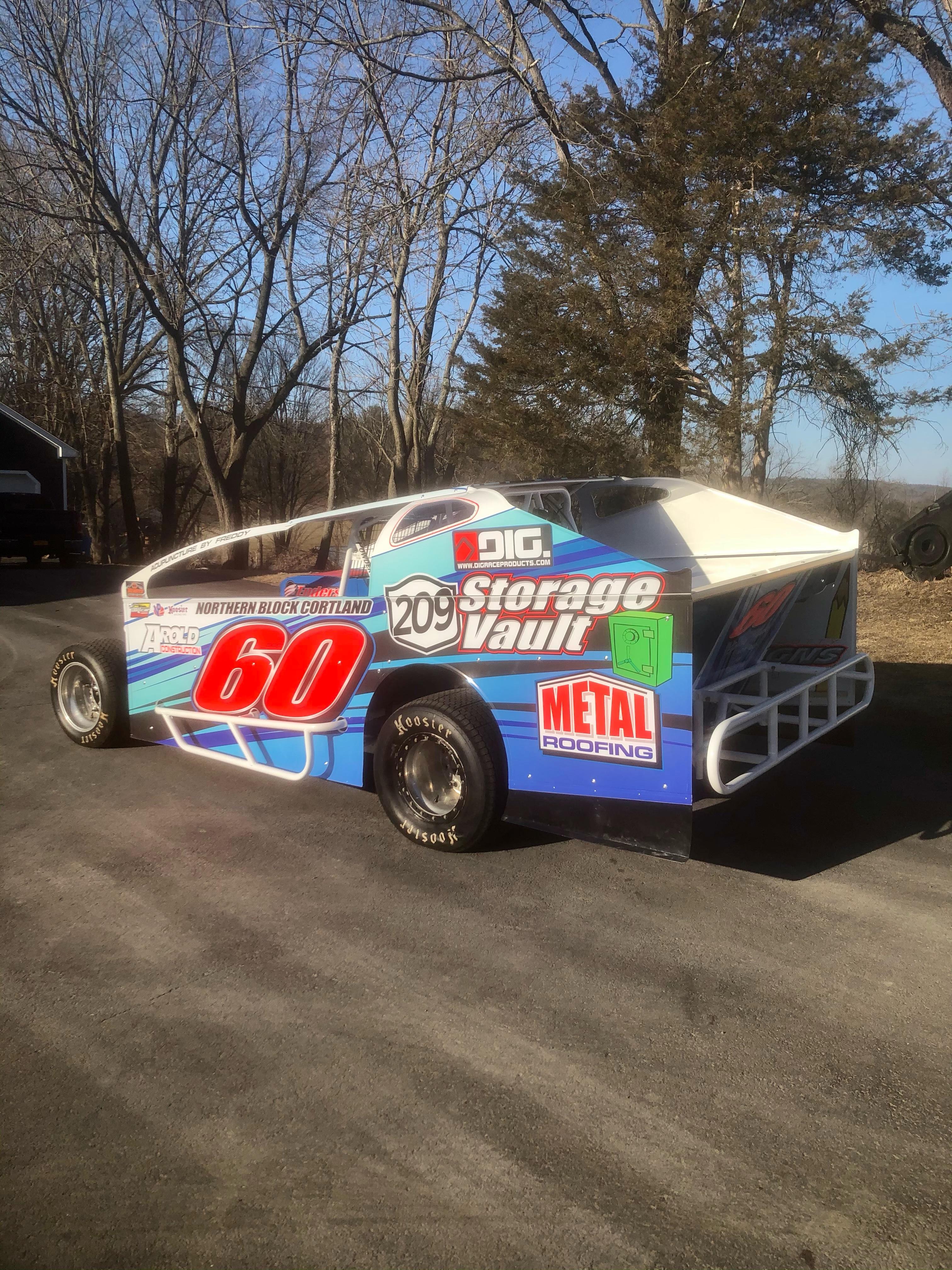 209 sponsored race car