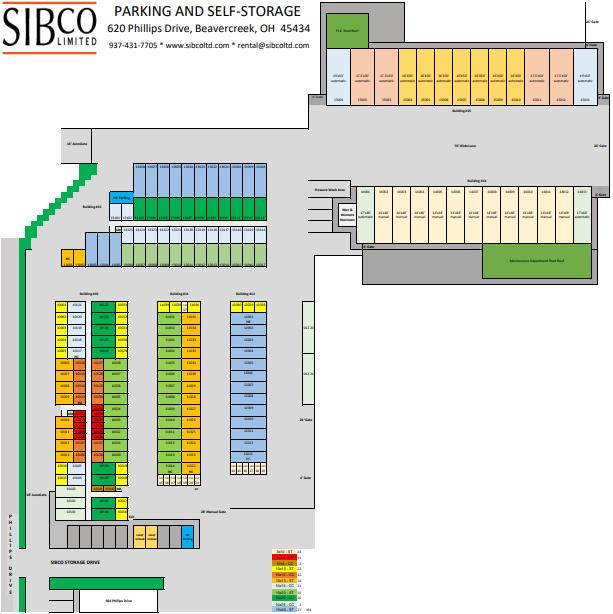 map of buildings ten through fifteen