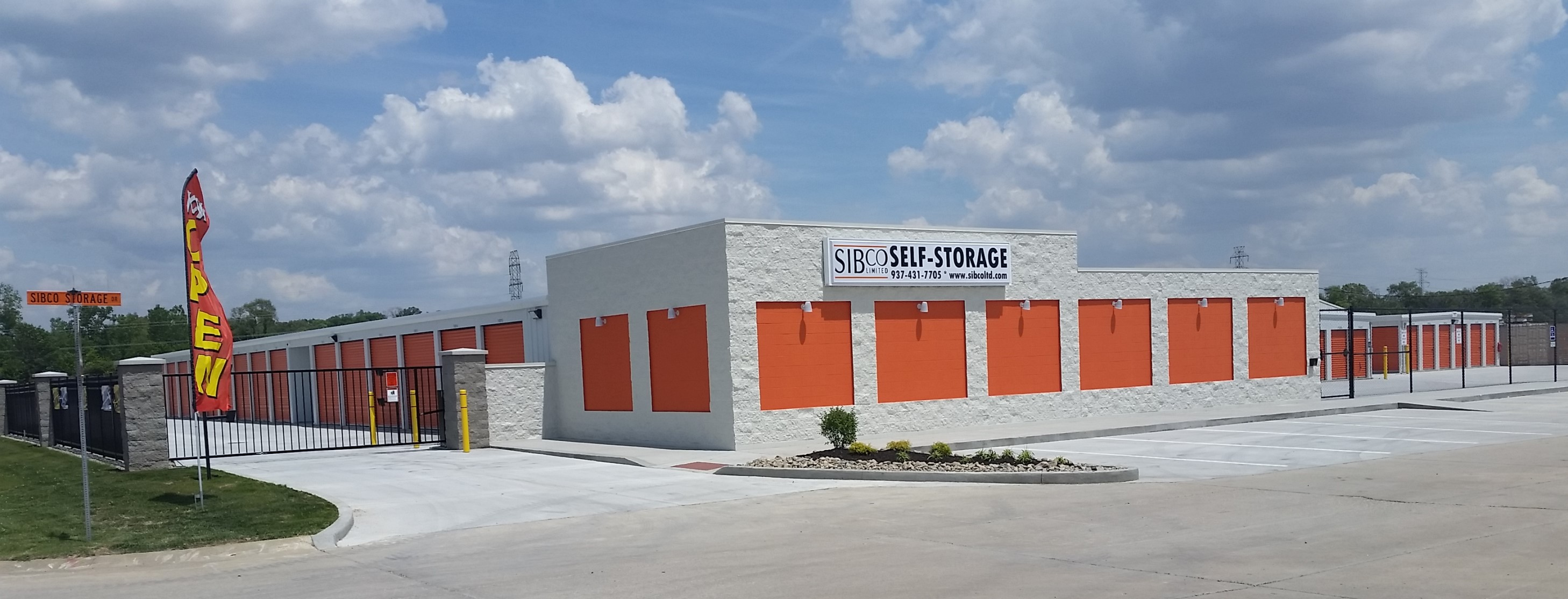 front entrance, fenced and gated, to Sibco Ltd self storage