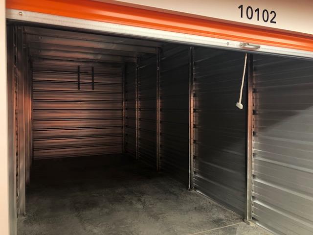 inside of an empty storage unit in beavercreek, oh