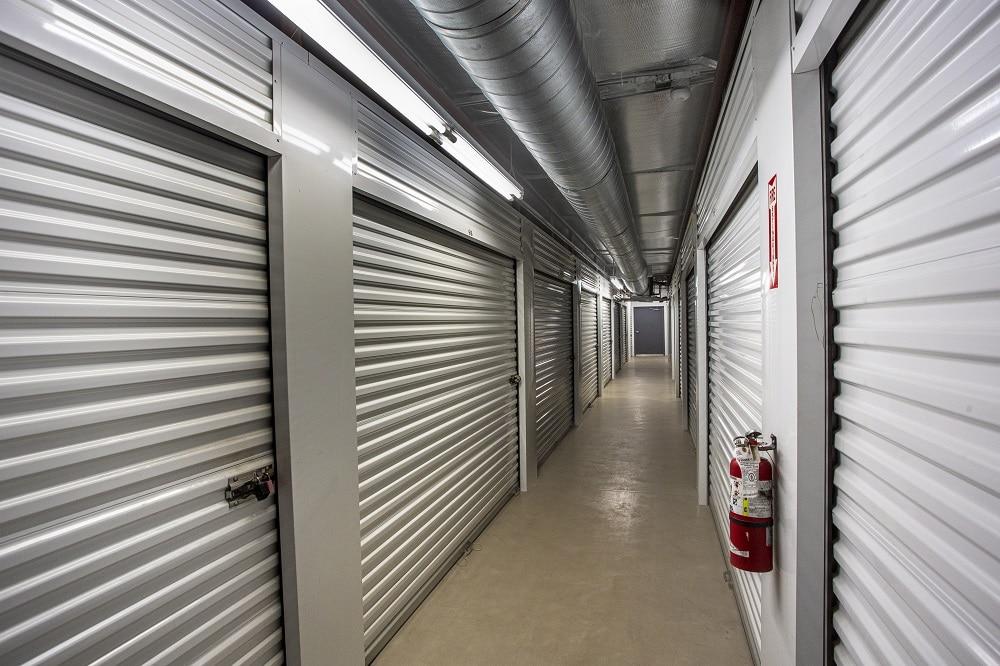 fire extinguisher in storage unit