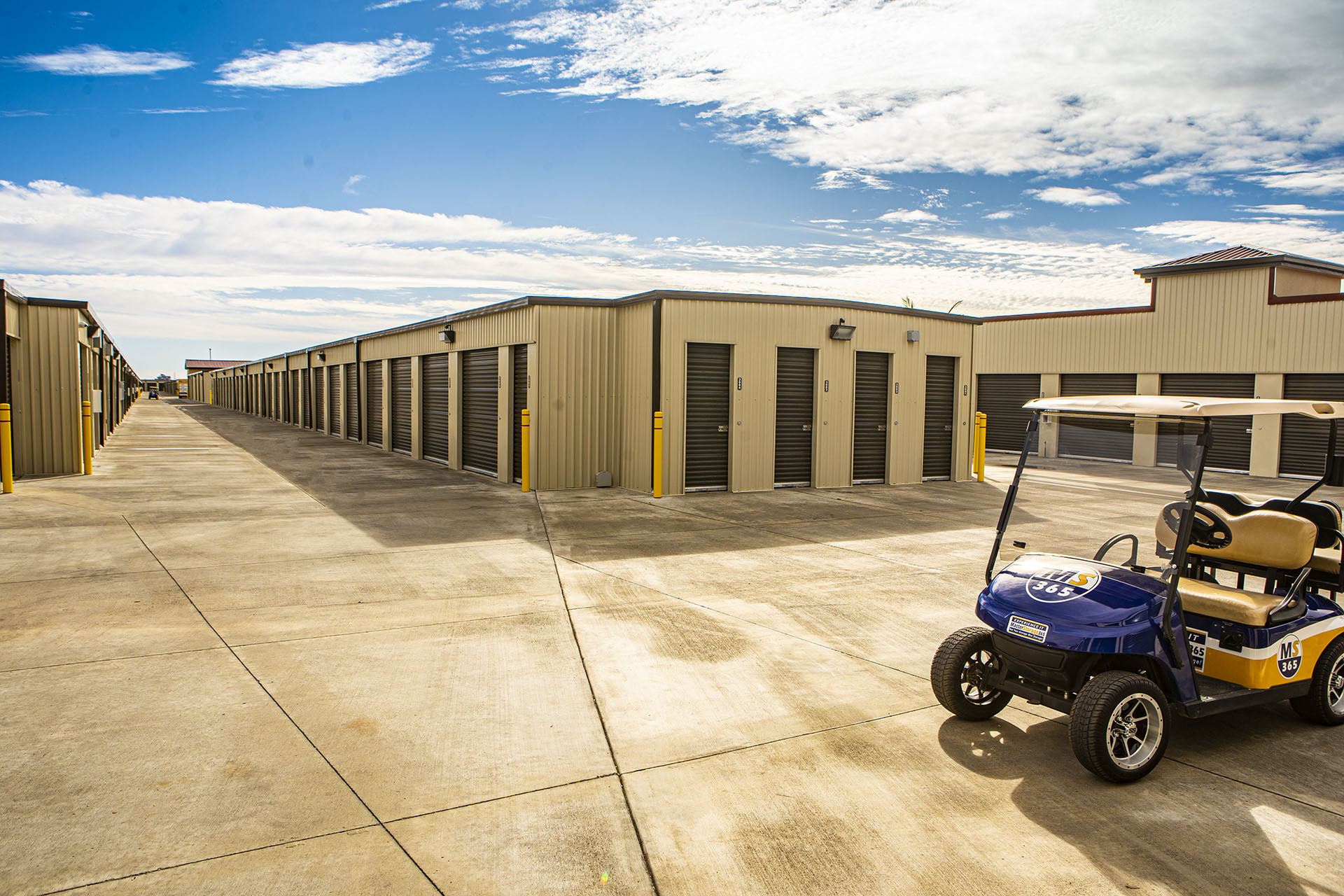 fully paved storage facility