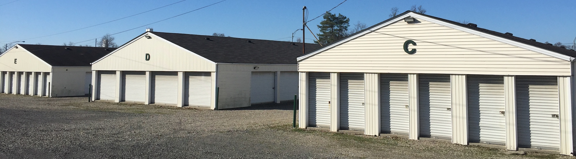 University Self Storage facility from front
