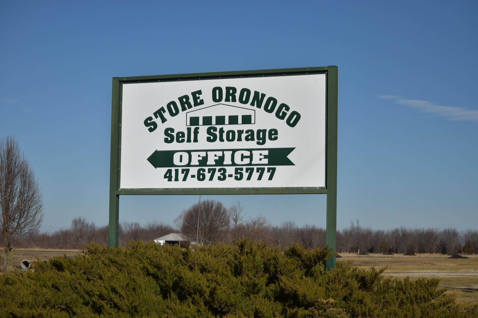 signage of store oronogo self storage
