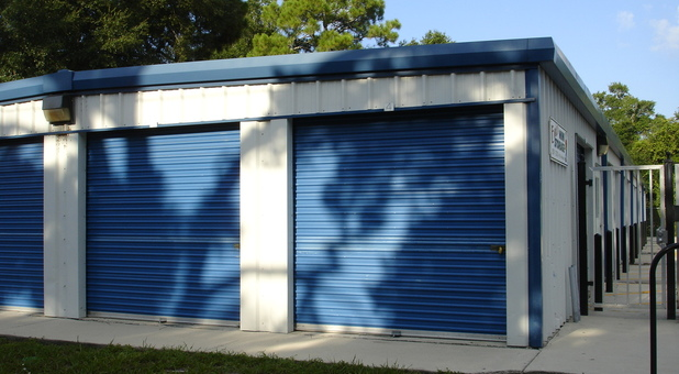 Angled view of storage units in St. Augustine, FL