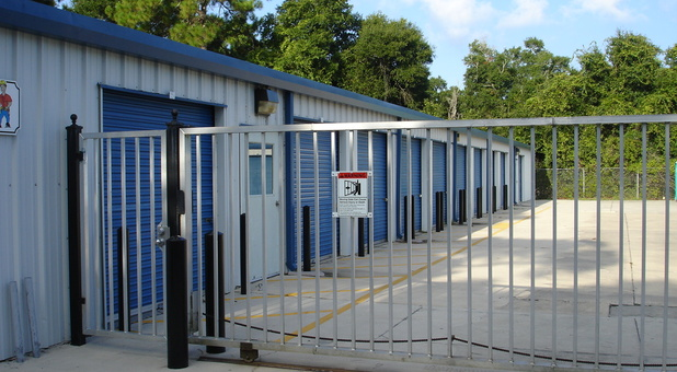 Security gate at Ernie's Mini Storage