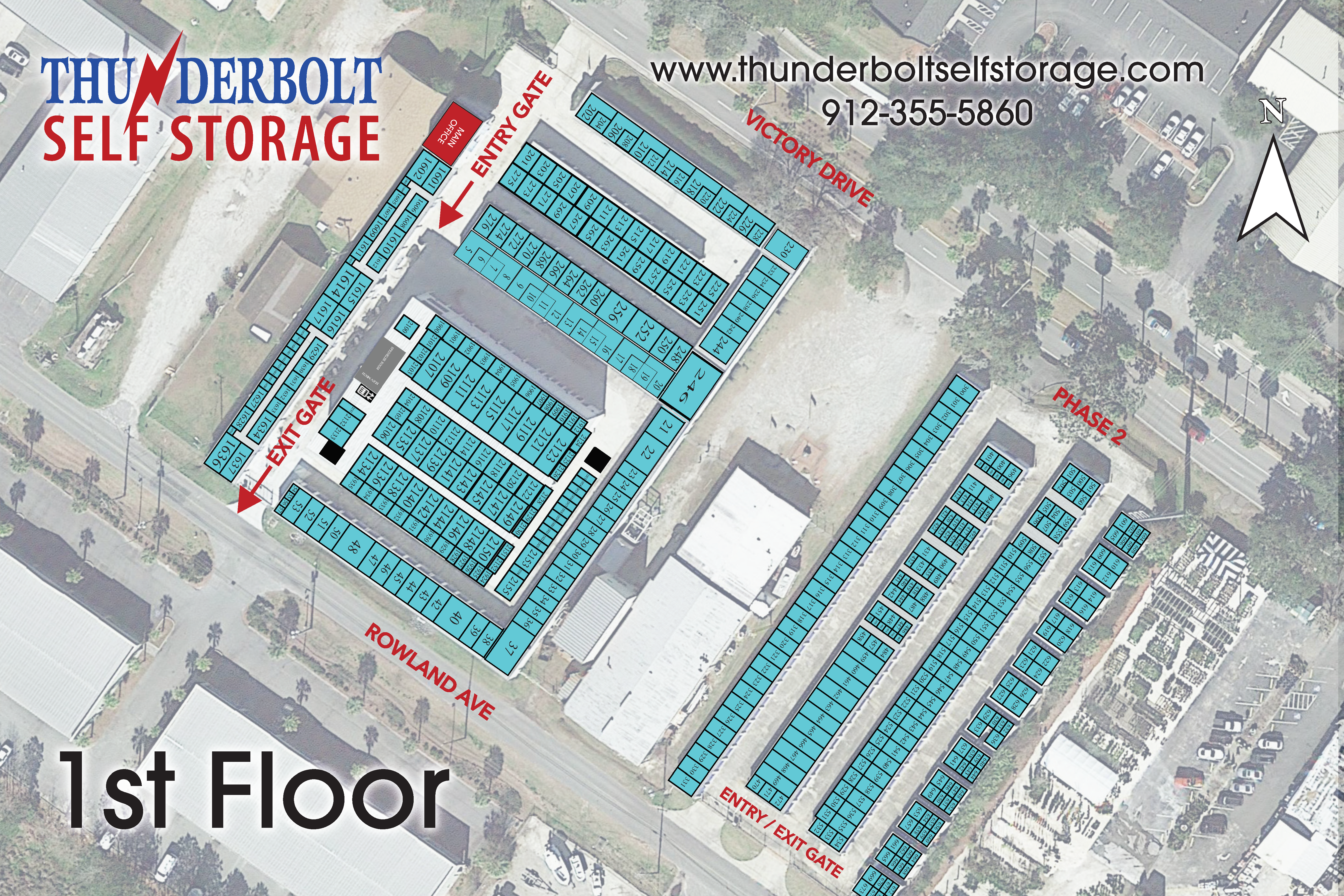 Thunderbolt Self Storage Map