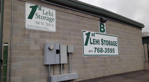 1st Lehi Storage logo on building