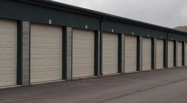 Rows of self storage units in Lehi, Utah