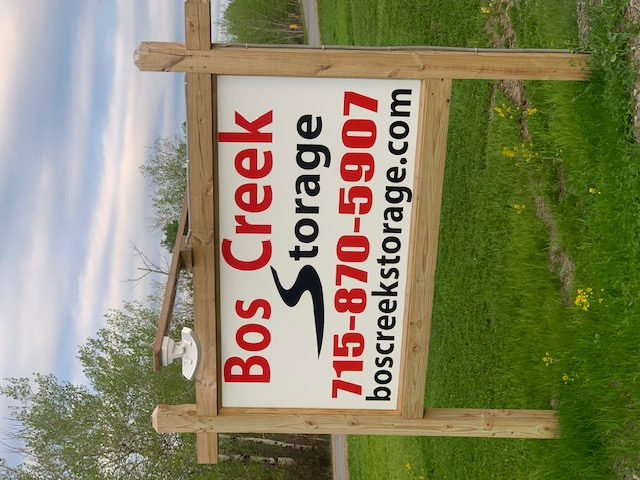 Bos Creek Storage front sign