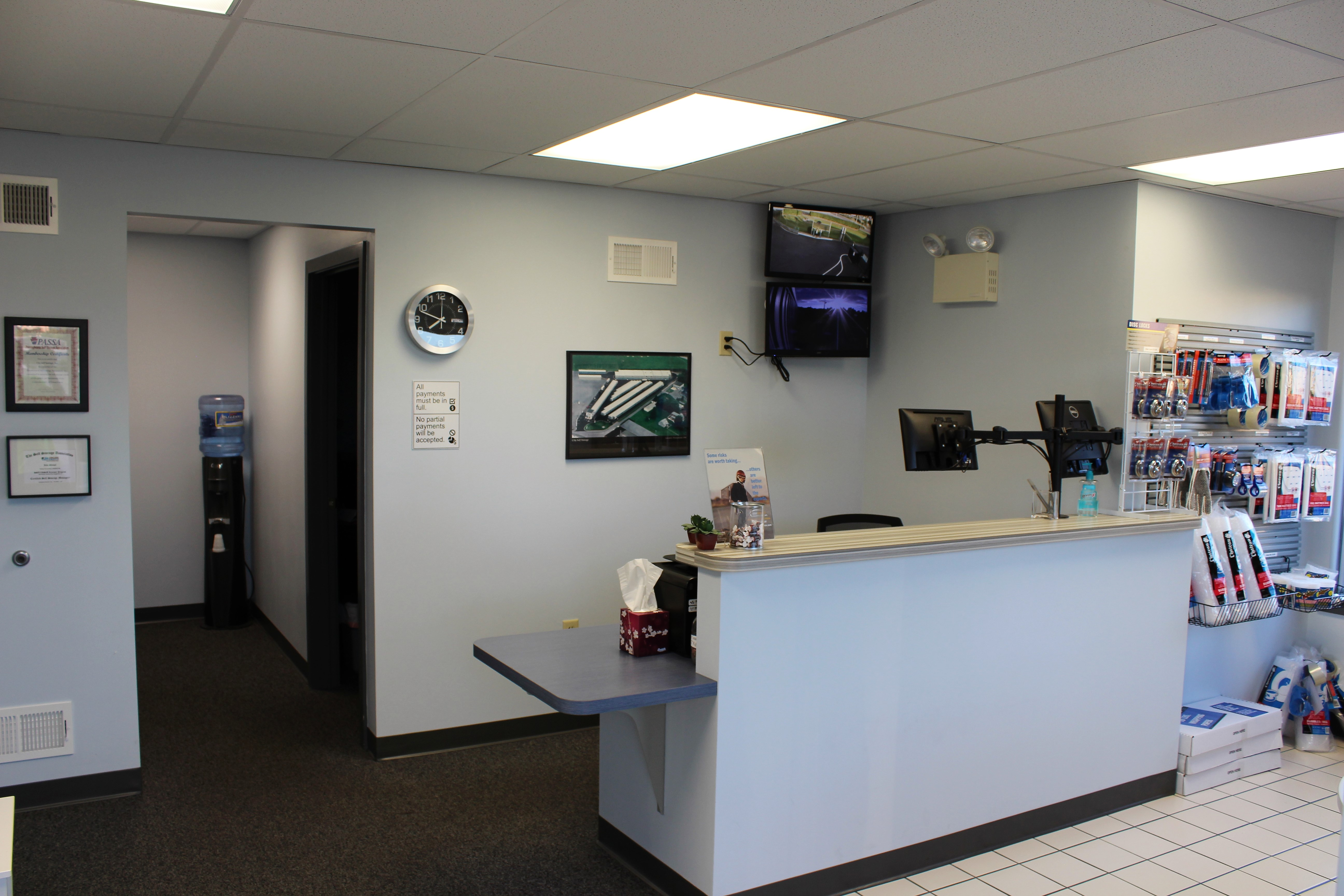 Clean friendly office for self storage in Lancaster, PA