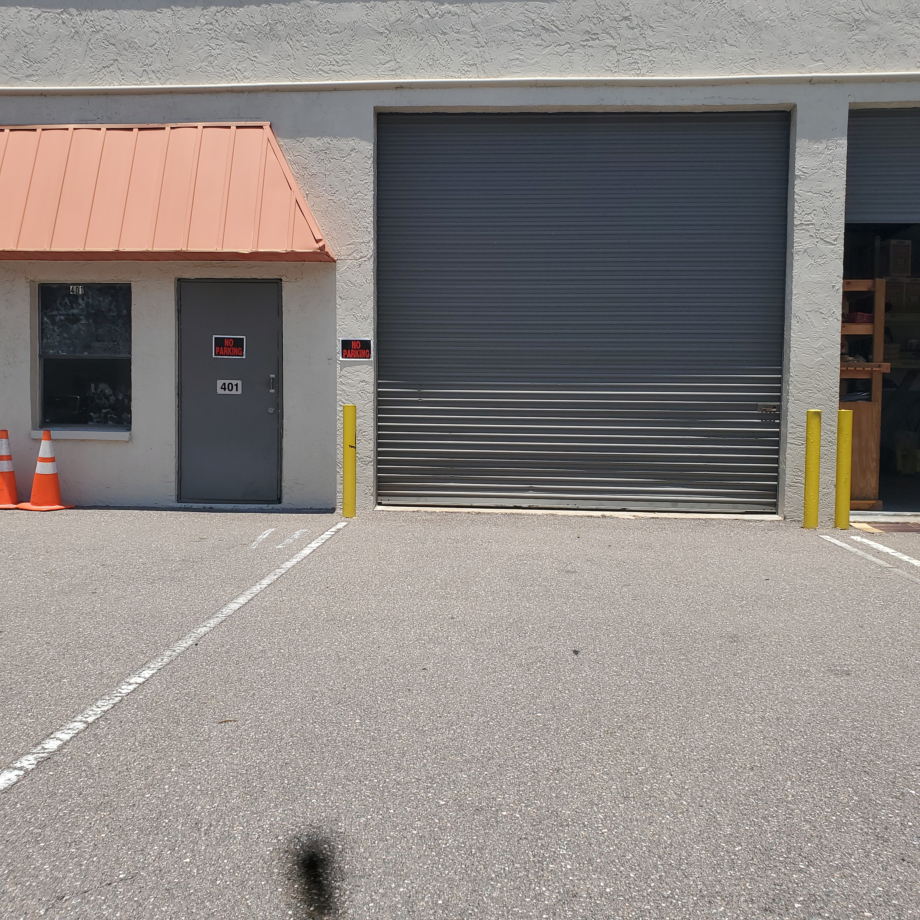 front loading bay of industrial space