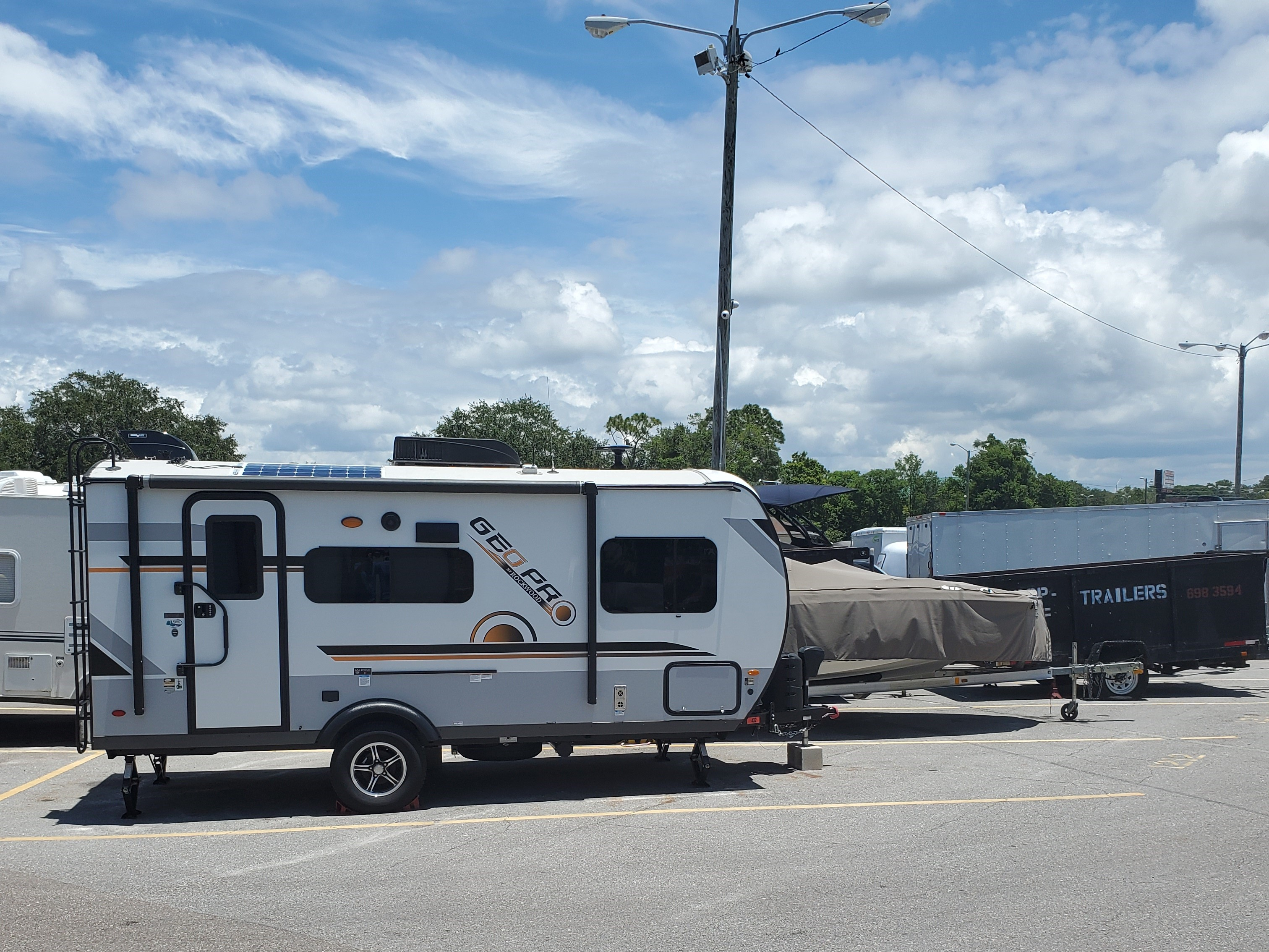 RVs parked outdoors