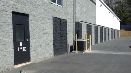 self storage building exterior and door