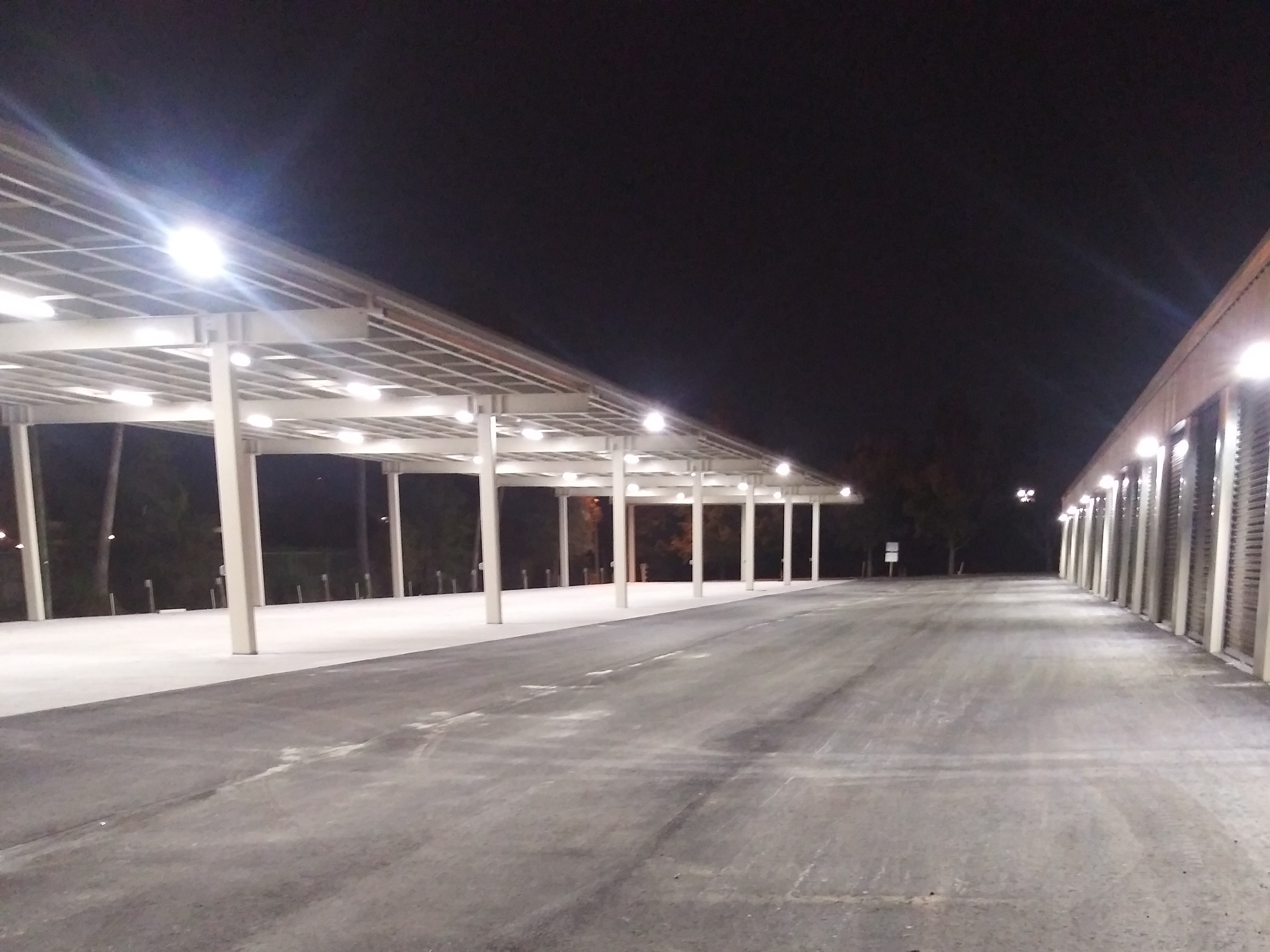 drive up storage units at night
