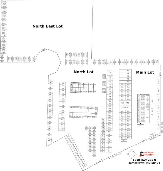 Jamestown North Facility Map
