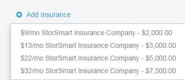 Add Storage Insurance
