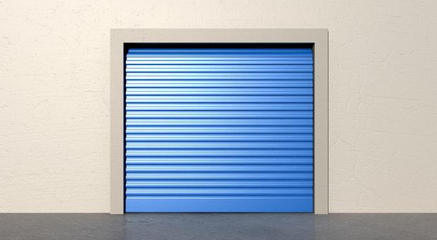 Attic self storage garage door