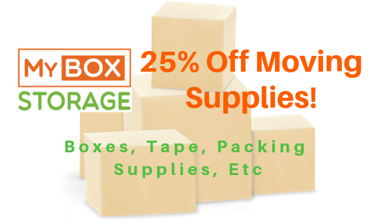 25% Off Moving Supplies!