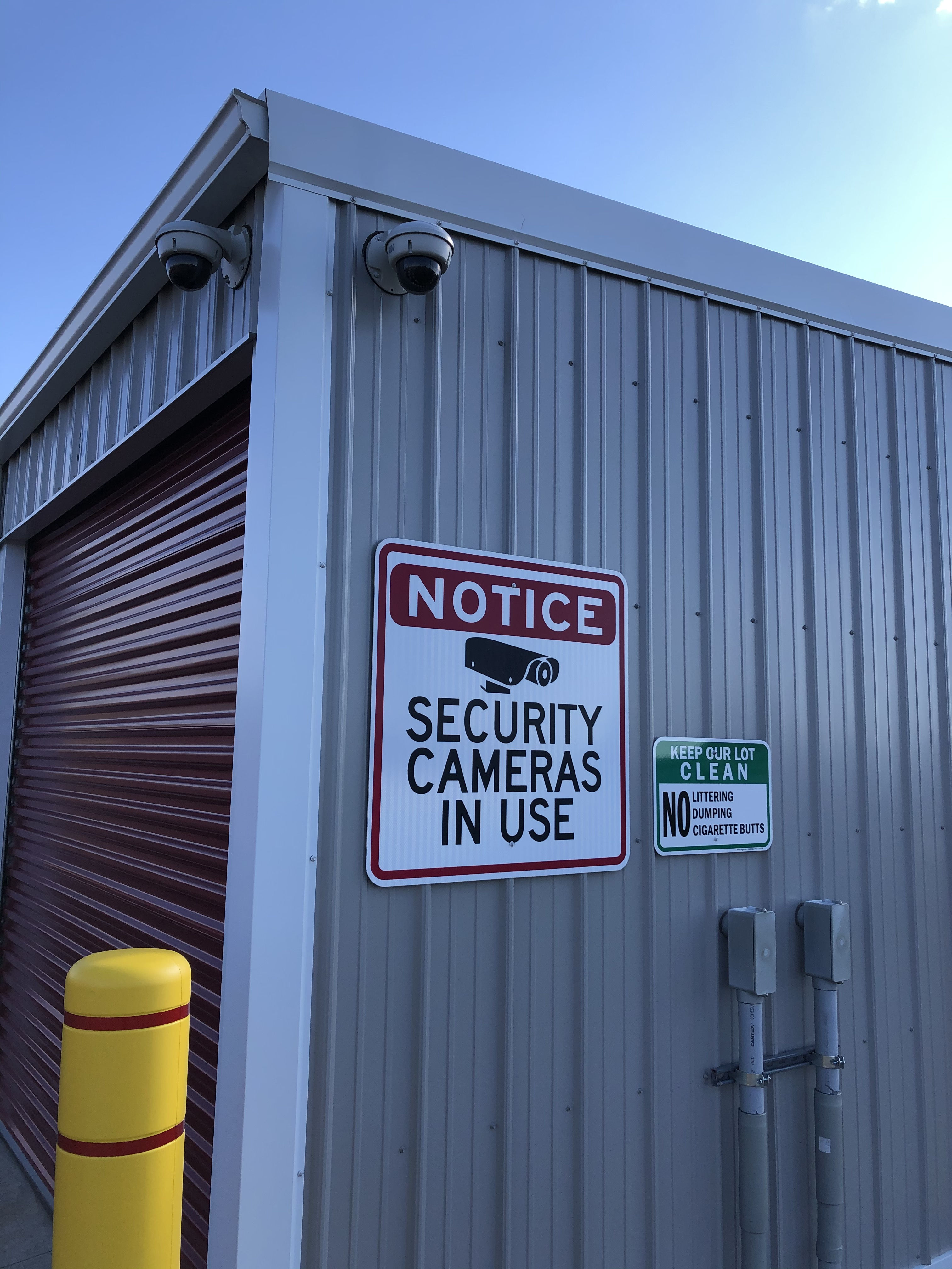 State of the art security system at Vrana Mini Storage in Tomah, WI