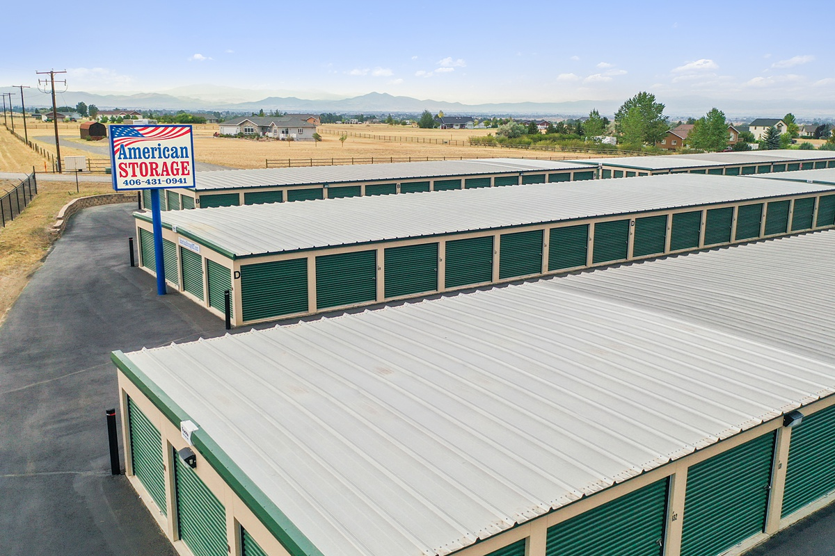 Self Storage buildings with outside access doors
