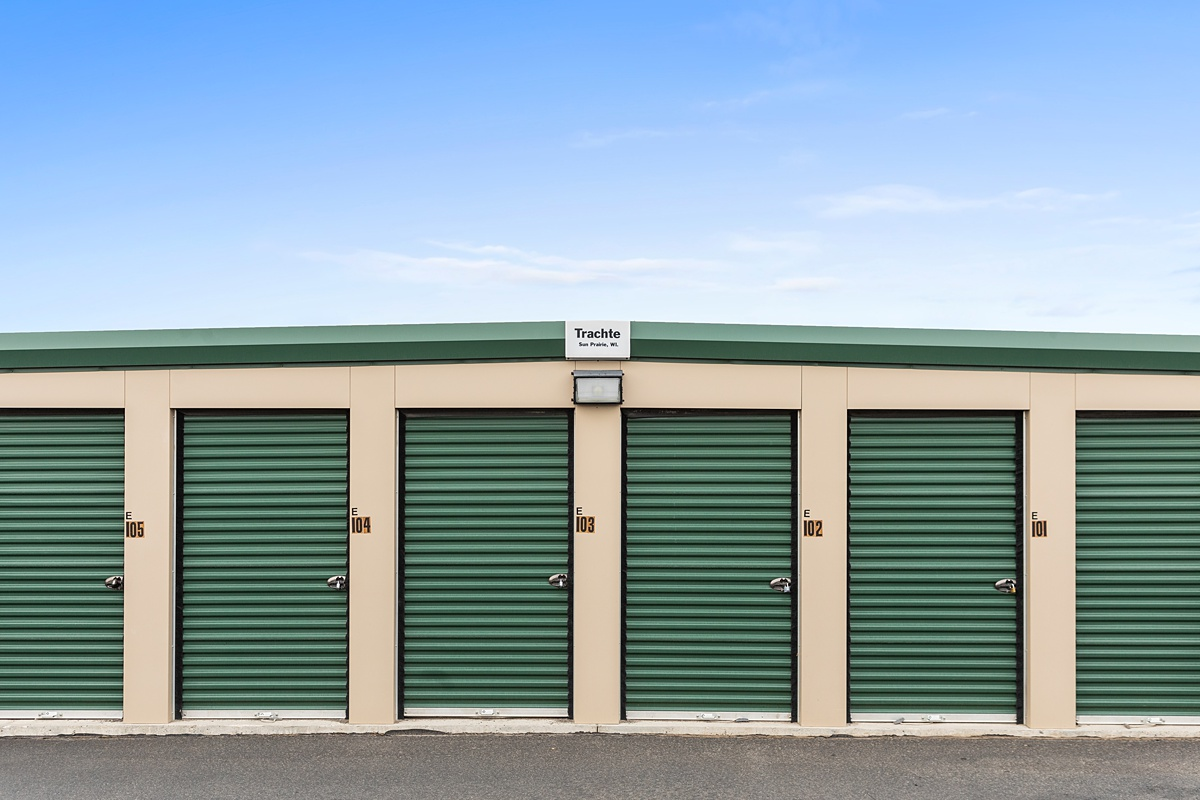 Self Storage Units with exterior doors