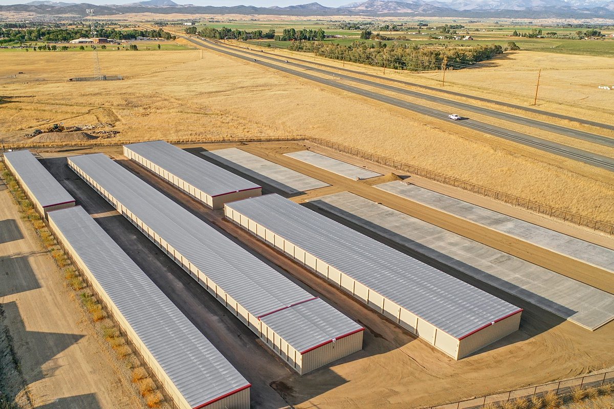 Overhead view of storage facility