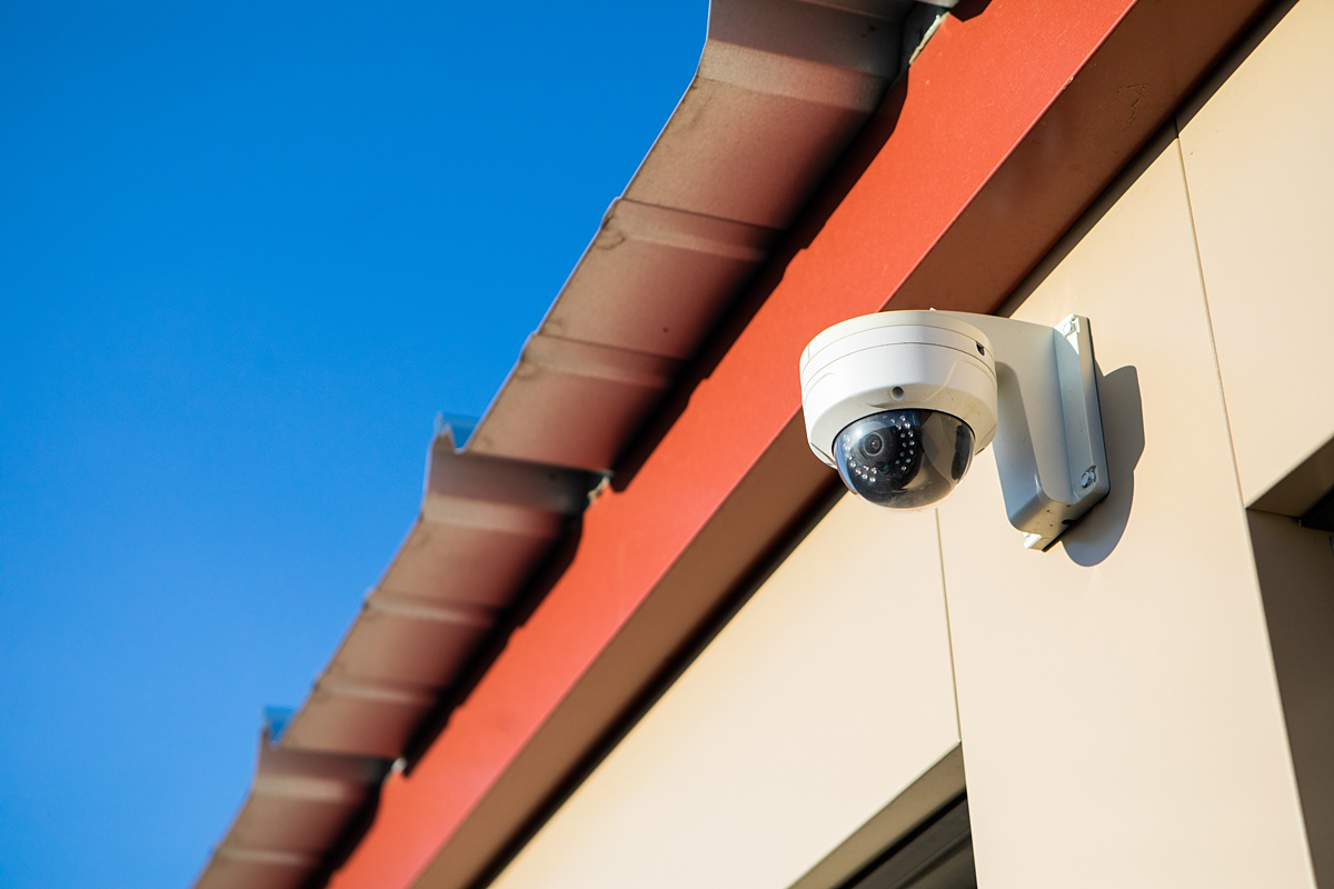 Securty camera on storage building
