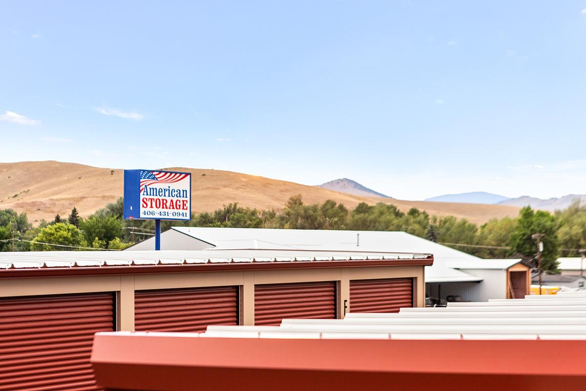 American Storage Westside front sign