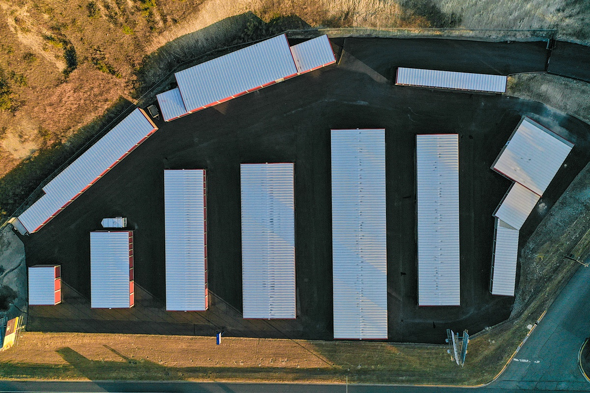 Overhead view of entire storage facility