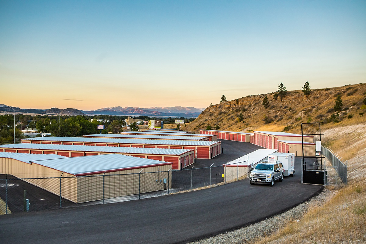 Self Storage facility with full-fence and automated gate