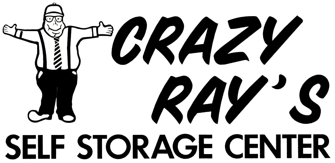 crazy ray's self storage center logo