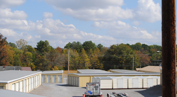 Overhead view of Chapman Storage