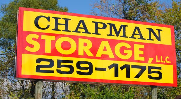 Chapman Storage sign