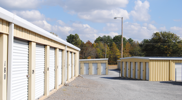 Rows of storage units in Scottsboro, AL